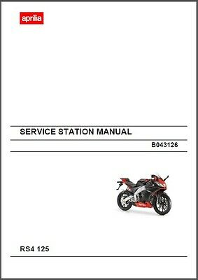 Aprilia RS4 125 Service Workshop & Parts Manual on a CD    ---   RS 4