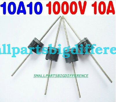 10pcs 30pcs 10A10 New Genuine MIC Axial Rectifier Diode 10A1000V 10amp