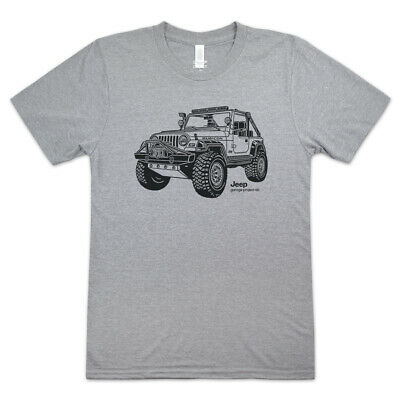 Free Shipping to USA | Car Graphic Vintage 2000s American Truck White T-Shirt Jeep Wrangler 101 Graphic Tee Size Large