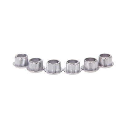 6pcs Guitar Tuner Conversion Bushings Adapter Ferrules for 8mm Peghead Holes