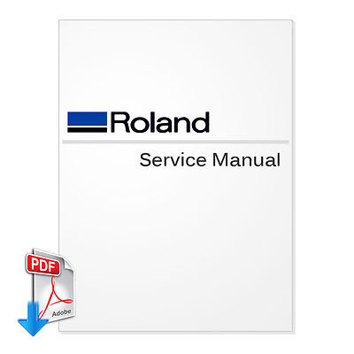 Service Manual and parts list for Roland VersaUV LEF-12 English Service Manual