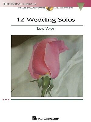 12 Wedding Solos for Low Voice - Vocal Music Book with CD