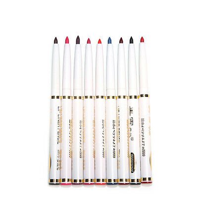 9pcs/set women Pro chalkmatte lip liner waterproof Cosmetic Tools Lip/Eye pencil