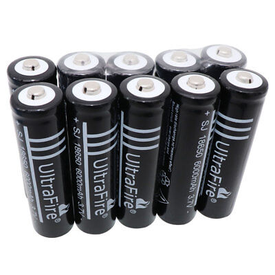 10pcs 3.7V 18650 Battery Li-ion 6000mAh Rechargeable For UF Flashlight Laser RC