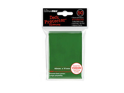 ULTRA PRO Deck Protector - Standard 50ct Solid Green - 50 Protector Sleeves
