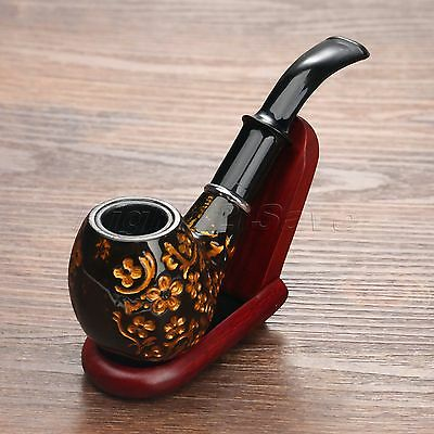 20mm Dia. Resin Cigarette Tobacco Cigar Smoking Pipes Gorgeous Retro Collectable