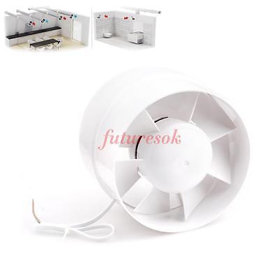"""6"""" Inline Duct Fan Booster Exhaust Blower Air Cooling Vent Metal Blade ABS"""