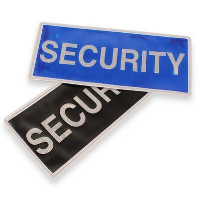 New Large reflective sew on security badge Black and Blue available