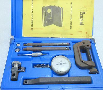 "Central Tools 6400 .200"" Range 0 - 100 Dial Indicator Gauge Set - Made in USA!"