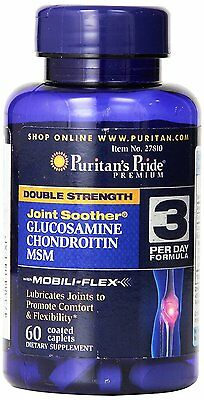 Puritans Pride Double Strength Glucosamine Chondroitin & Msm Joint Soother x 60