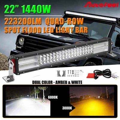 "22""inch 1200W 10D CREE LED Light Bar Spot Flood Work Offroad Driving Lamp UTE"
