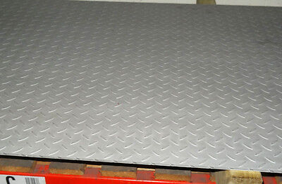 4.5mm Stainless Steel TREAD Plate Floor Checker custom cut to size free Durbar
