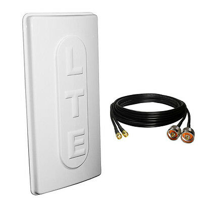 4G/LTE 15dBi 1700Mhz 1800Mhz 1900Mhz 2100MHz Outdoor Antenna +10m SMA Male Cable