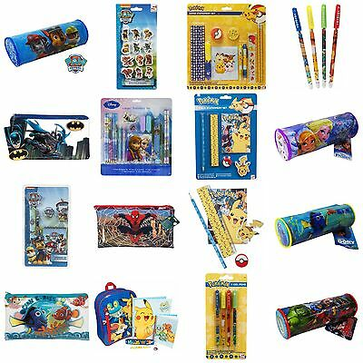 Childrens Stationary Sets PAW Patrol Frozen Pencil Case Erasers Crayons Pokemon