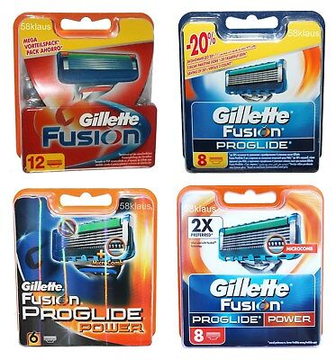 Gillette Fusion ProGlide Power Klingen 4 6 8 12 16 20 24 30 32 36 40 42 48 56