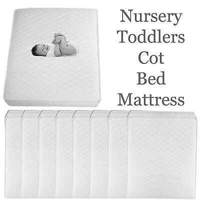Quilted Baby COT BED MATTRESS Fully Breathable Extra Thick 120 X 60  Water Resis