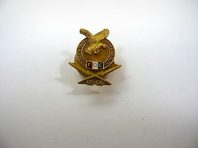 Vintage Collectible Pin: FOE Fraternal Order Eagles 65-66 High Quality
