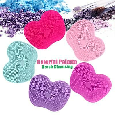 Colorful Silicone Makeup Brush Washing Scrubber Board Small Cleaning Mat Tool