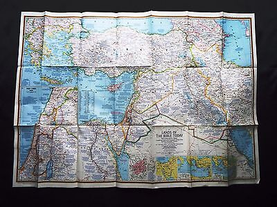 National Geographic Map 1967 -  Lands of the Bible Today (M211)