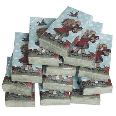 dotcomgiftshop 12 PACKS OF DOLLY GIRL POCKET TISSUES PARTY BAG STOCKING FILLERS