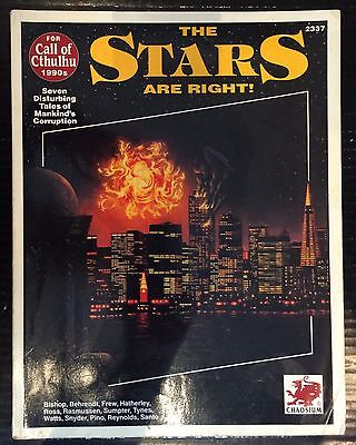 The Stars Are Right! (1992) Call of Cthulhu RPG Guidebook Chaosium Books
