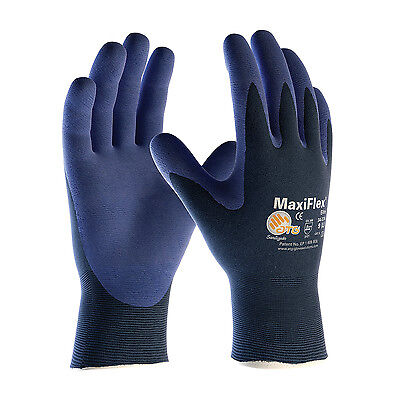 PIP 34-274 ATG MaxiFlex Elite Seamless Knit Nitrile Coated Gloves 3 PAIR LARGE