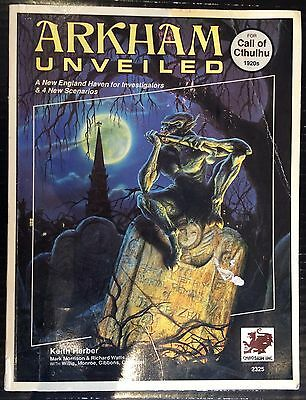 Arkham Unveiled (1990) Includes Map Call of Cthulhu RPG Guidebook Chaosium Books