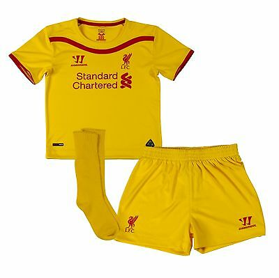 Liverpool football club away yellow mini kit 18-24 month year old brand new
