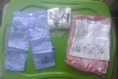 """New My Twinn Flower Shirt Pants & Shoes Outfit for 23"""" Dolls Free Shipping"""