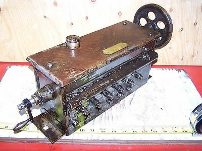 Old MADISON KIPP 6-Feed Steam Prairie Tractor Hit Miss Gas Engine Oiler NICE!!