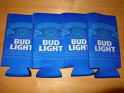 Bud Light Beer Koozies - Set of 4 - Fits 24 - 25 oz. Extra Ounce Cans NEW