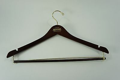 Vintage WOODEN HANGER- Suit Dress Pant Coat Skirt Hanger Boston Copley Place Mar