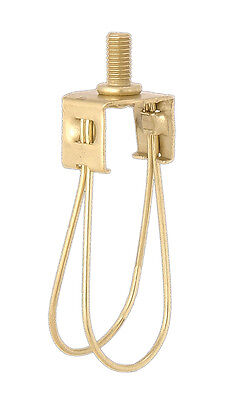 Brass Finish Clip On Adapter For Lamp Shade-Candelabra (Torpedo) Bulb Size