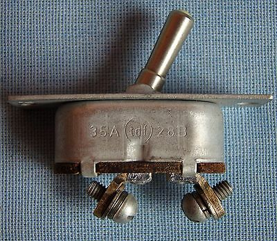 1 X Vintage Metallic Toggle Panel Switch V-45 (B-45) 35A 28Vdc On Off Ussr Army