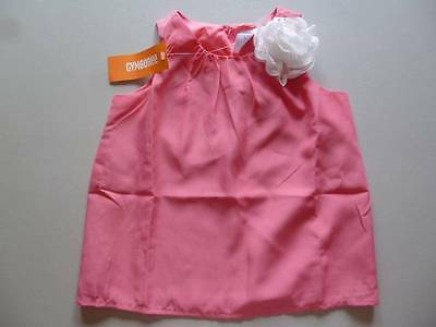 Gymboree Spring Dressy EASTER Fancy Pink Top Shirt With White Flower Size 4 NEW
