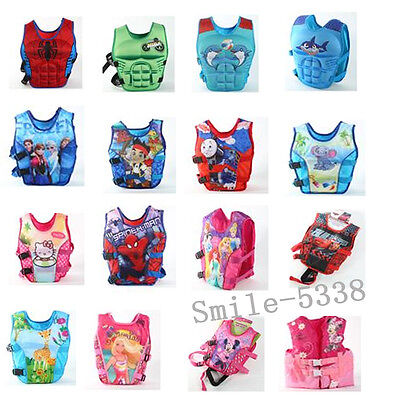 Boy Girls Child Kids Swimming Sailing Floating Zip Vest Buoyancy Aid Life Jacket