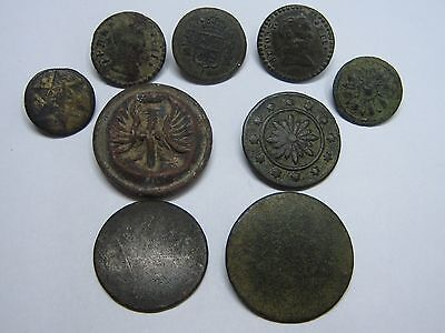 Rare Antique Military Button Spanish Buttons Beautifuls Lot 9 Buttons