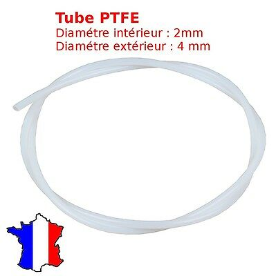 tube PTFE Teflon - tuyau pneumatique 4x2mm bowden filament 1.75mm imprimante 3d