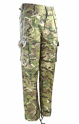 Kids Childrens MTP Style Camo Combat Trousers, NEW 3-4 to 12-13