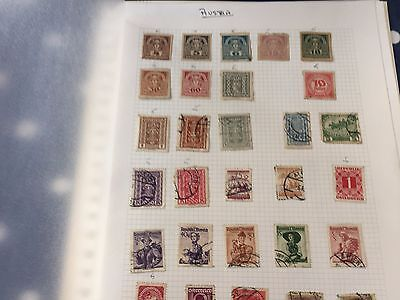 Austria nice stamp hoard on album pages direct from different estates untouched