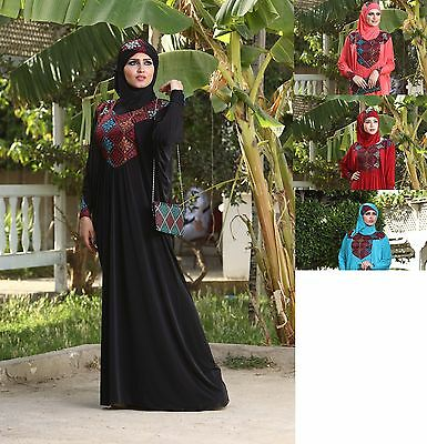 New Women Stylish Islamic embroidered Abaya Esdal Free size ( # 111 )