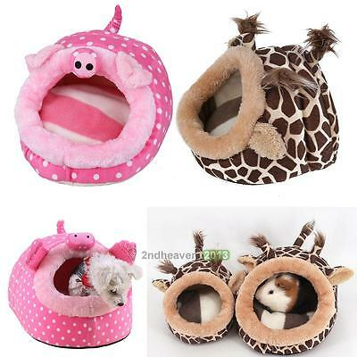 Small Animal Pet Hamster House Nest Rat Warm Bed Hedgehog Squirrel Cage Mat Pad