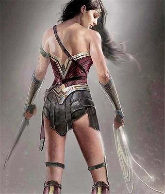 "HD Canvas Print home decor wall art painting/Wonder woman 12x16"" Unframed"