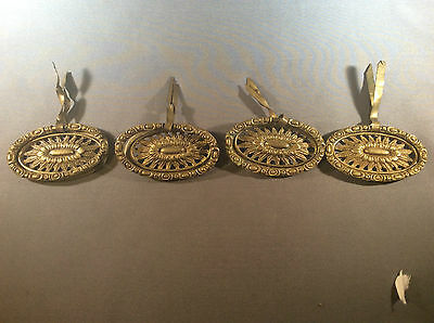Antique decorative brass drawer pulls