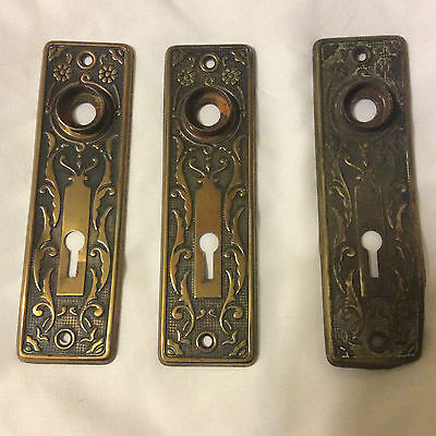 Antique door knob back plates 6 1/2