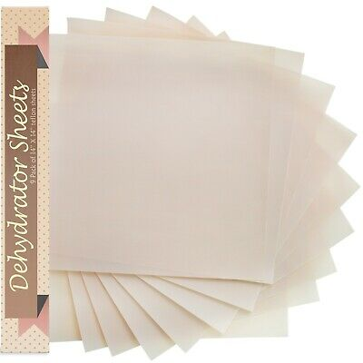 """Food Dehydrator Sheets, Set of 9 Premium 14"""" X 14"""" Non-stick by Chuzy Chef"""