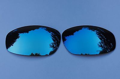 Engraved Polarized Ice Blue Custom Mirror Replacement Oakley Split Jacket Lenses