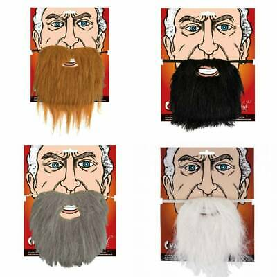Men's Moustache & BEARD Black Brown Grey White Tash Facial Hair Fancy Dress