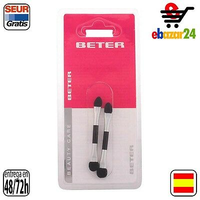Beter Original - EYESHADOW APPLICATOR foam double 2 pz Accesorios y organizadore
