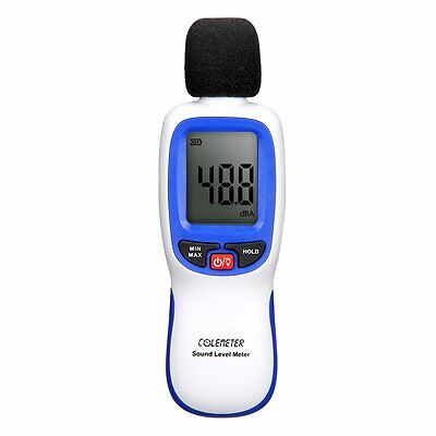 Noise Meter , COLEMETER Digital Sound Noise Level Decibel Meter Tester Range